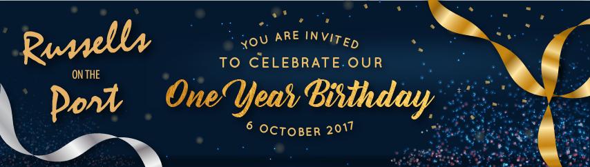 One Year Birthday Bash | 6 October 2017